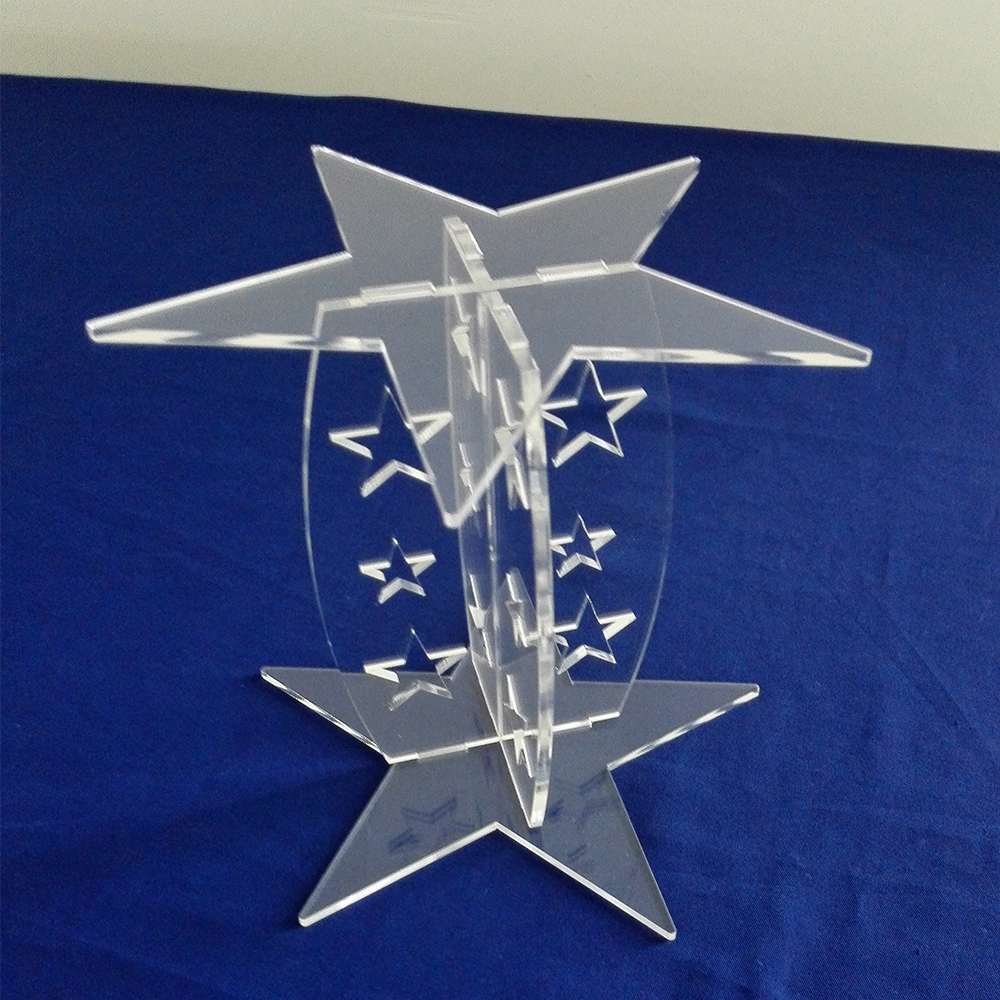 Detachable Star Shaped Clear Acrylic Cup Cake Stand
