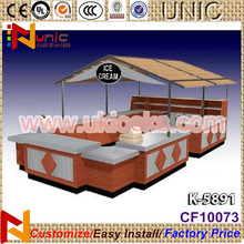 Fashion potato chips kiosk mall pretzel kiosk sweet potato kiosk design from China
