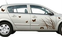 Vinyl Car Window Decal - Butterfly car or wall window decal