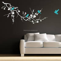 Custom Transparent Cute Wall Decal Wall Stickers Removable Bird Wall Decals