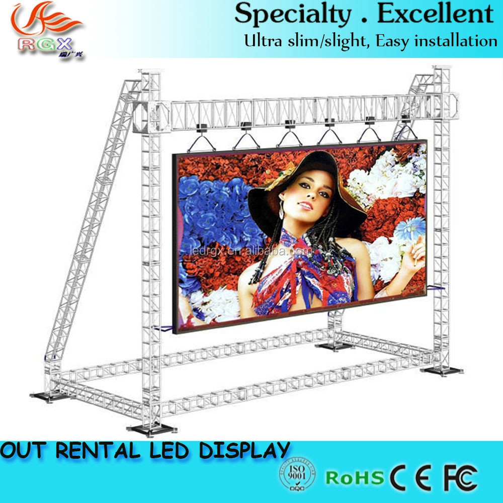 RGX Outdoor led large screen display /outdoor advertising led display screen/xxx video play led display