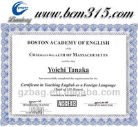 professional certificate printing