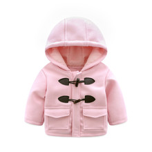 Winter Girls Long Jackets Cashmere Woolen Thick Coats Baby Clothes