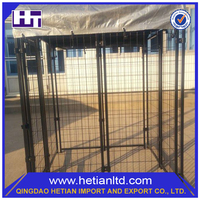 Trade Assurance Easily Assembled Handmade Durable Large Iron Fence Dog Kennel