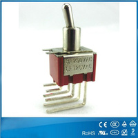 Waterproof types of high quality safety mini electrical car toggle switches 3a 250vac