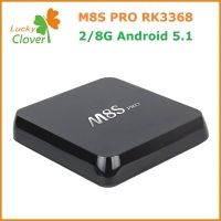 100% original rk 3368 chip M8S PRO quad Core 4K google Android 5.1 TV Box KODI 16.0 t95 android set top box t95 android tv box