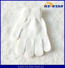 HZS-210338 low price nature best children white hand gloves