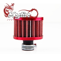 kylin racing CAR ACCESSORIES MADE IN CHINA NECK 12MM ROUND MESHED AIR FILTER OIL CRANKCASE TANK VALVE VENT BREATHER
