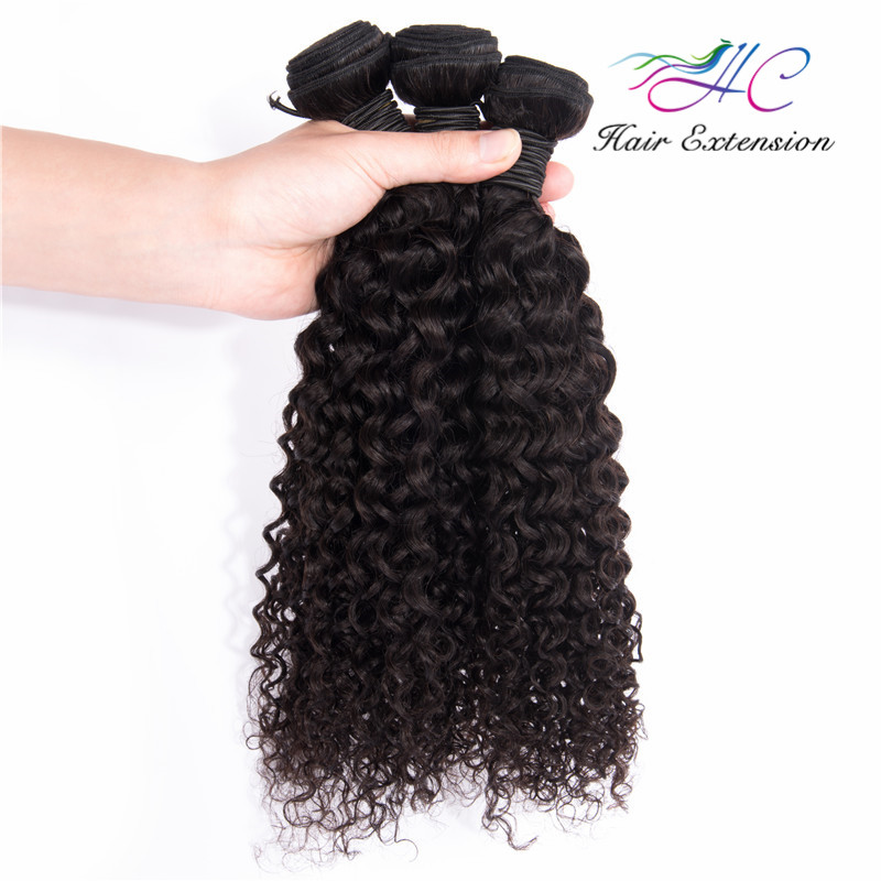 8 Inch Cheap Remy Brazilian Jerry Curly Hair Extension Real Double Drawn Human Hair
