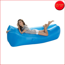 Fast Inflatable Air Bag Sofa Camping Bed Hangout Bean Bag Sleeping Lounger,Lightweight Hangout Air Lounger Sofa with Pillow