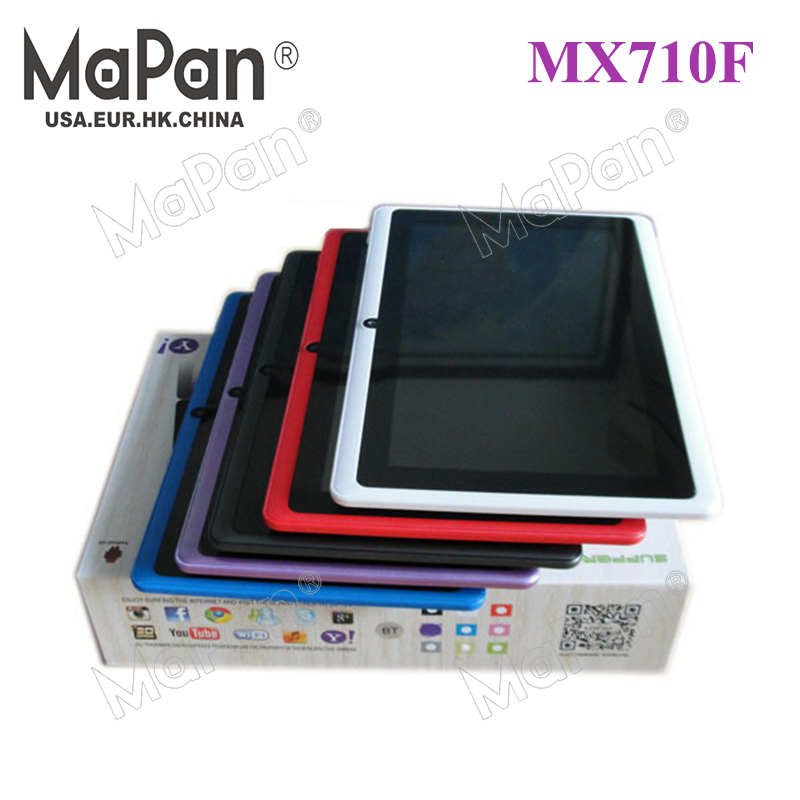 MaPan MX710F Factories price 7inch android 4.4 Capacitive Screen 512M 8GB Camera WIFI ATM7031A tablet pc