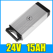 24v 15ah E bike li ion battery rear rack Aluminium Case