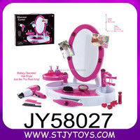 Girl style beauty dressing table set plastic toy makeup mirror set