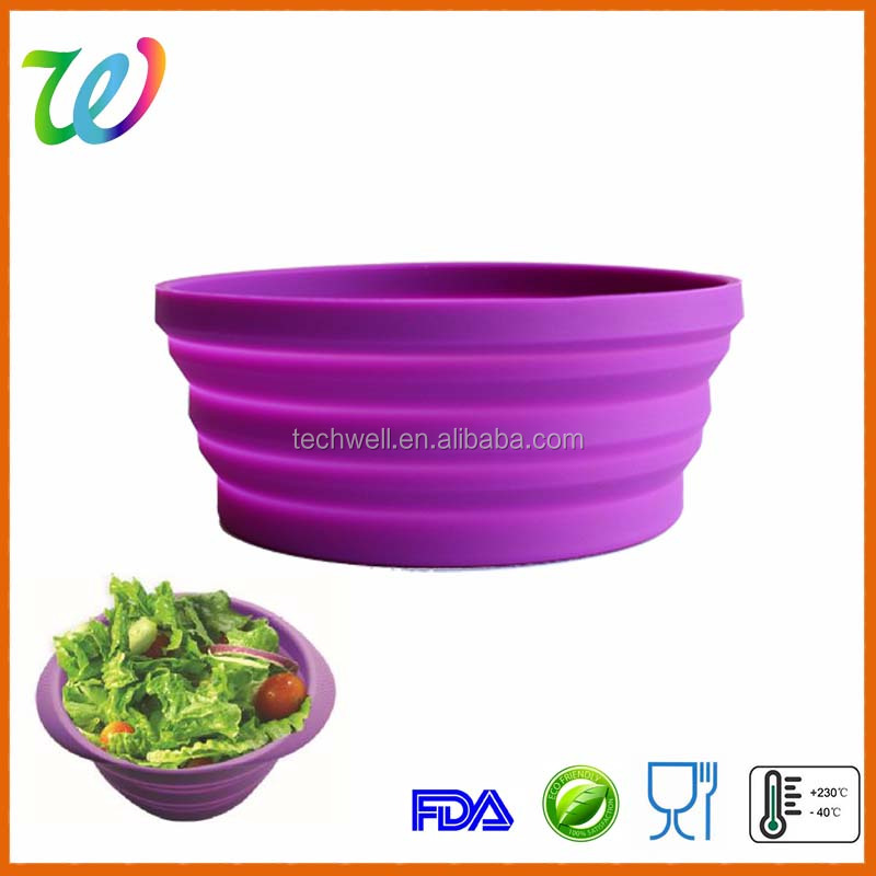 Hot sale silicone large collapsible water bowl