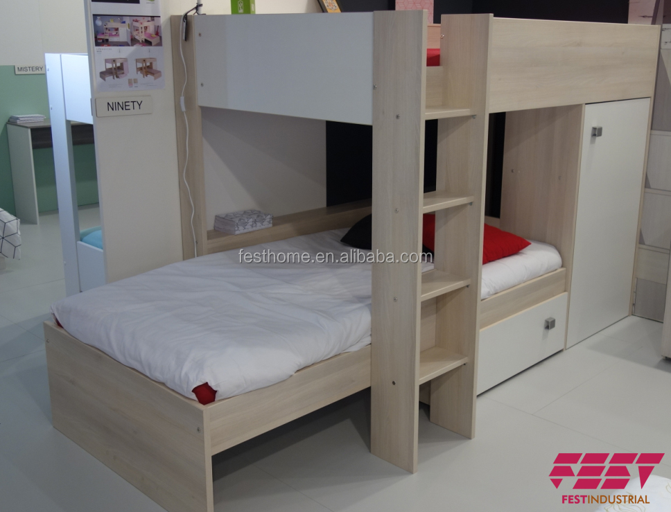 factory wholesale wooden bunk bed, kid bunk bed