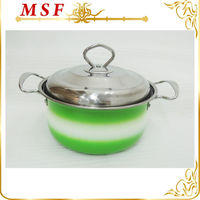 stainless steel insulated casseroles hot pot amc cookware with colorful surface