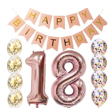18th Birthday decorations Party supplies-18th Birthday Balloons Rose Gold,18th birthday banner Table Confetti balloon decoration