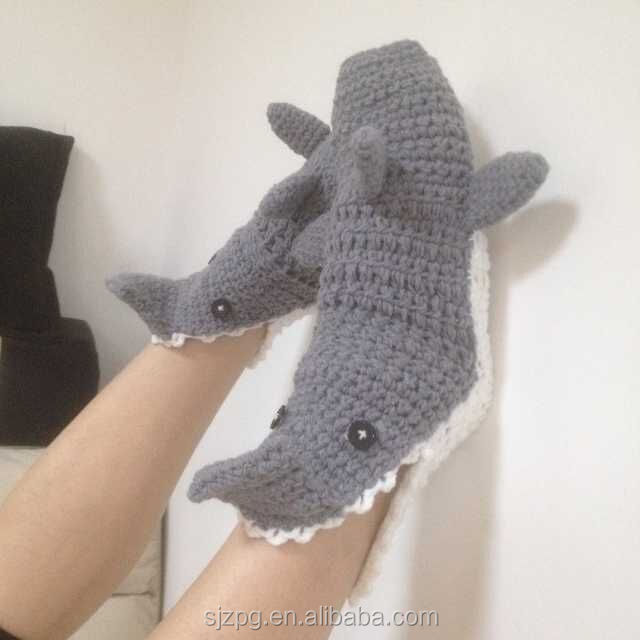 Crochet Shark Shoes Free Pattern : Crochet Handmade Shark Shoes,Crochet Animal Style Shoes ...