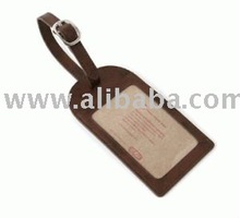 GIVE genuine Leather Luggage Tag (for promotional gifts) Name Tag bag tag
