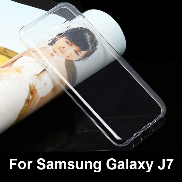 0.6mm soft clear tpu case for Samsung Galaxy J7, soft tpu clear cover for Samsung Galaxy J7 transparent case