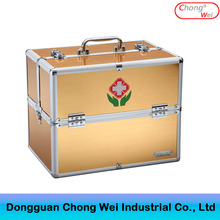 2017 high quality gold premium emergency aluminum factory frist aid kit for doctors