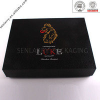 2016 new product beautiful recycled gift box logo with bow made in china design certificated by ISO BV SGS
