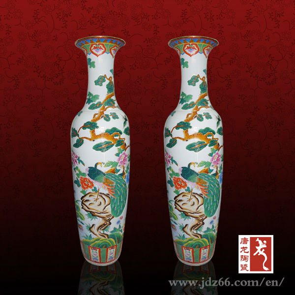 porcelain decoration vases with animal flower