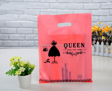 high quality plastic gift bag with custom logo