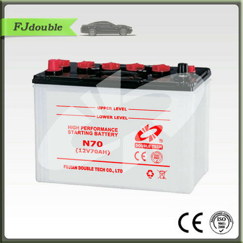 Double Tech 12V 70AH Dry Charged Automobile Car Battery N70