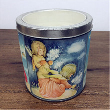Religious activities use decal glass scented candle