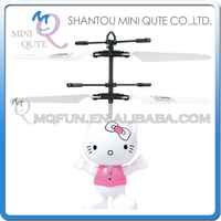 Mini Qute LED RC remote control flying Helicopter cartoon Hello Kitty Cat model plastic doll kids Electronic toys NO.CK820A-8