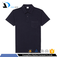 Daijun oem fashion men navy high quality 100 cotton custom promotional polo shirts