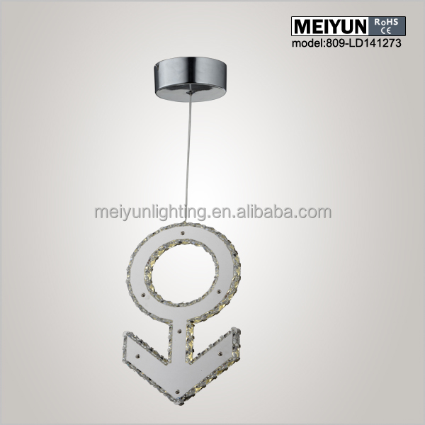 key crystal pendant lamp