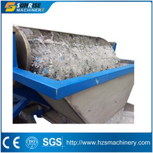 Sunrise Machinery pet flakes recycled hot washing line / plastic scrap cold washing line