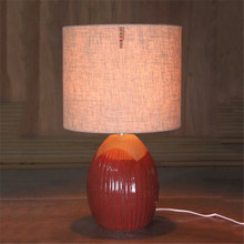 Vertical stripes fluted elegance fine hotel ornaments reading desk light table lamp with cloth shape