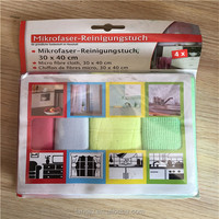 Multipurpose Microfiber Cleaning Cloth For Floor,Car And Hotel,Cleaning Towel with different head card