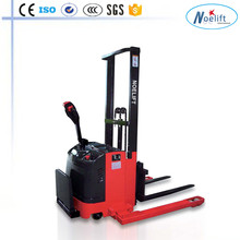 man standing self - straddle forklift electric pallet stacker with battery 1T/1.5T/2T capacity electric pallet stacker
