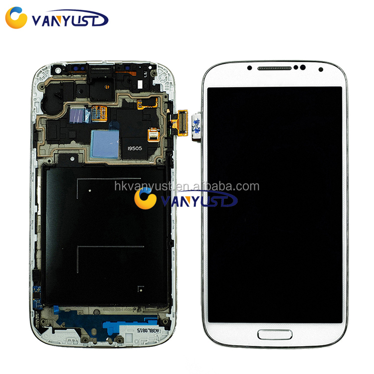 LCD Display Touch Digitizer Complete Screen Panels With Frame Replacement For Samsung Galaxy S4 i9500 i9505 I545 I337