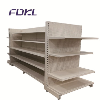 Convenience supermarket display gondola steel shopping shelves