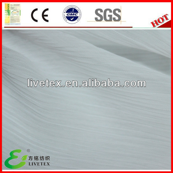 Polyester chiffon white fabric