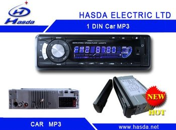 1 din car radio player with mp3 /USB ,slip down detachable panel .Hasda H-7005