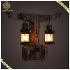 Industry Style Specific Design Wall Lamp Wooden Decor for Internet Bar or Pub