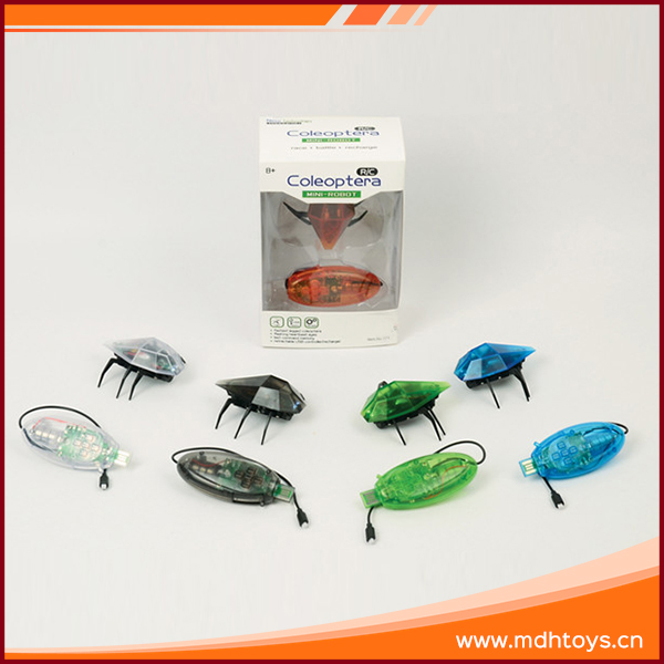 R/C infrared beetle wild animal robot insect toy with light and battery