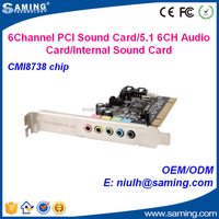 6 Channel PCI sound card/audio card with CMI8738 Chip