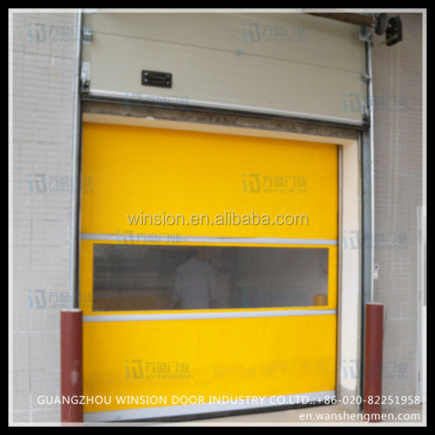 pretty high speed garage good quality guangzhou high speed pvc rolling door