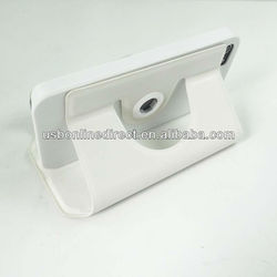 White Folio PU Leather case for iPhone 5 Protect with stand 360 dgree rotating