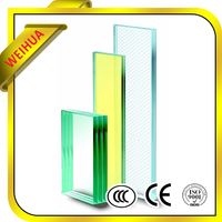 Tempered price toughened laminated glass with pvb film