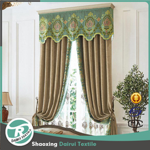 Luxury velvet with valance ready made curtain