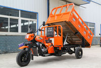 hydraulic self-dumping 3 wheel motorcyce/cargo tipper tricycle
