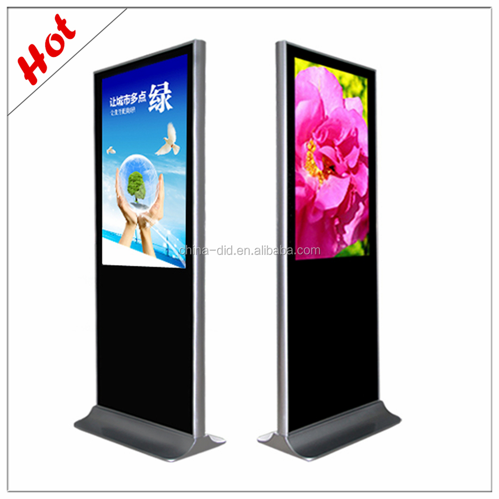 42''UD free standing lcd digital sinage, lcd painel ad publicidade palyer para shopping